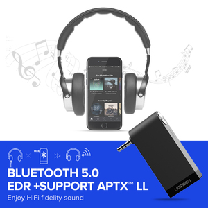 Image 3 - Ugreen Bluetooth Receiver 5.0 Wireless aptX LL 3.5mm Car Aux 3.5 Jack Stereo Adapter Music Headphone Bluetooth Audio Receiver