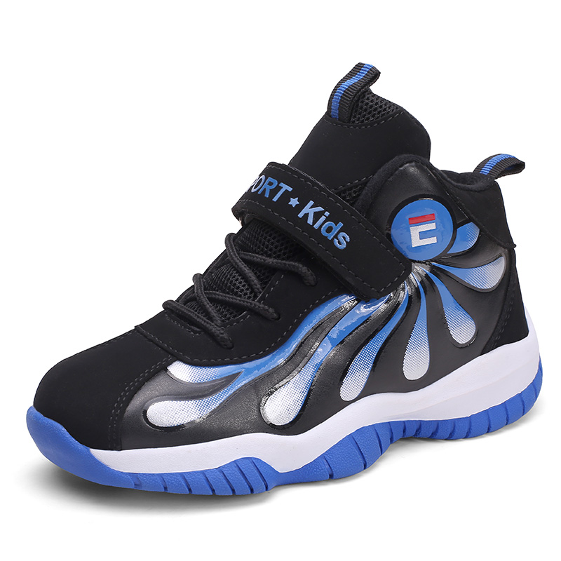 2019 New Kid Shoes Outdoor Boys Girls Basketball Shoe Designer Sneakers Sport Red Blue Basketball Sneakers Children