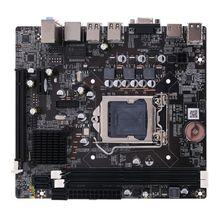 H61 Motherboard PCI-E SATA 2xDDR3 DIMM Desktop Motherboard H61 Socket LGA1155 16G for i3 i5 i7 Mainboard asus p8h61 m plus desktop motherboard h61 socket lga 1155 i3 i5 i7 ddr3 16g uatx on sale