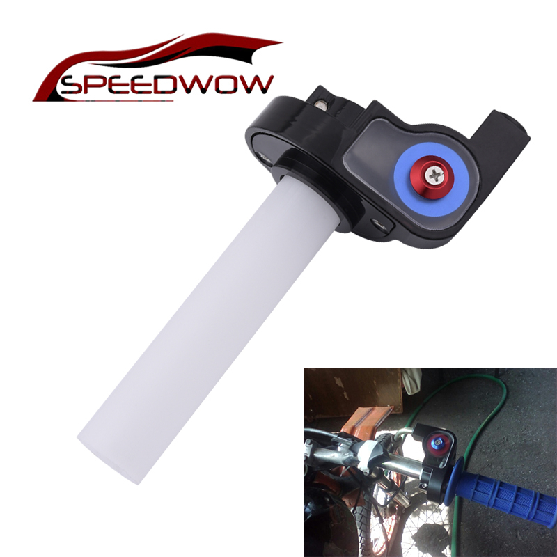 SPEEDWOW Motorcycle Visual Throttle Grips Twist Gas Throttle Handle For ATV Dirt Bike Handlebar Motorcycle Parts Handlebar     - title=