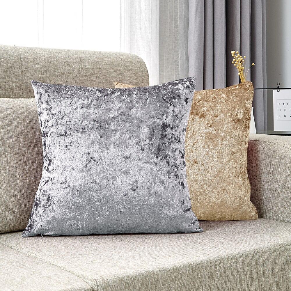 Декоративные подушки, бархатная наволочка для подушки, Мягкая Наволочка для подушки, розовое украшение для дома, блестящие наволочки для го...