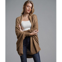 Women Cardigan Long Sleeve Knitwear Cardigan Batwing Sleeve Knitwear Spring Winter Crochet Cashmere Long Sweater for Women E1897
