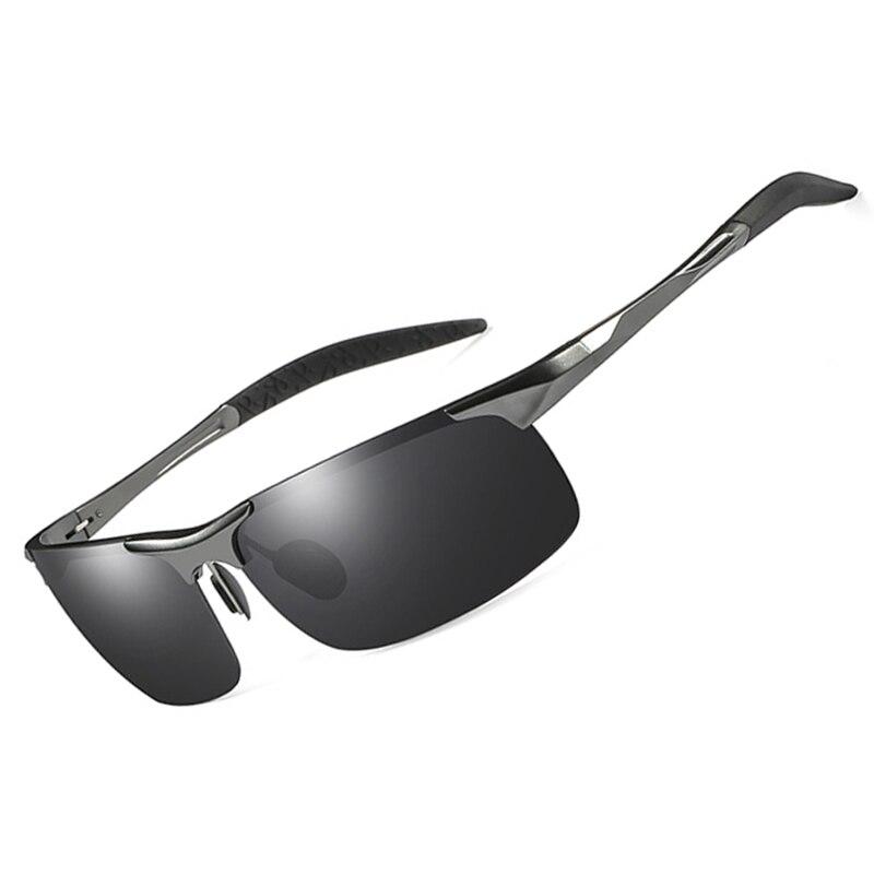 polarized Mens sunglasses aluminum magnesium frame car driving sunglasses men sports Dark yellow