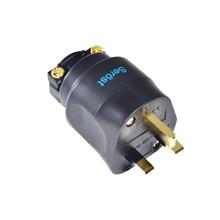 Serost hifi Hi End UK ปลั๊กไฟ UK Connector สำหรับสายไฟ FI UK 1363 (G) gold Mains ปลั๊ก UK plug