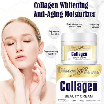Collagen Whitening Cream 80g Firming Lifting Face Cream Skin Care Moisturizing Anti-Aging Anti-Wrinkle Korean Facial Day Cream