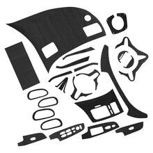 자동차 탄소 섬유 패턴 자동차 인테리어 DIY 데칼 트림 맞는 혼다 시빅 2006 2007 2008 2009 2010 2011 액세서리