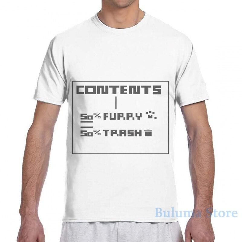 Conteúdo (Incluir) Peludo e Lixo homens T-Shirt design mulheres all over imprimir camiseta menina menino cobre t tshirts de Manga Curta