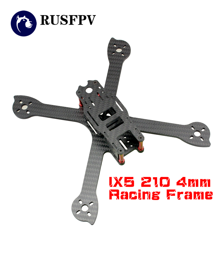 IX5 210 210mm 4mm Carbon Fiber Stretch X FPV Racing Frame For FPV Racing Drone Multirotor Quadcopter