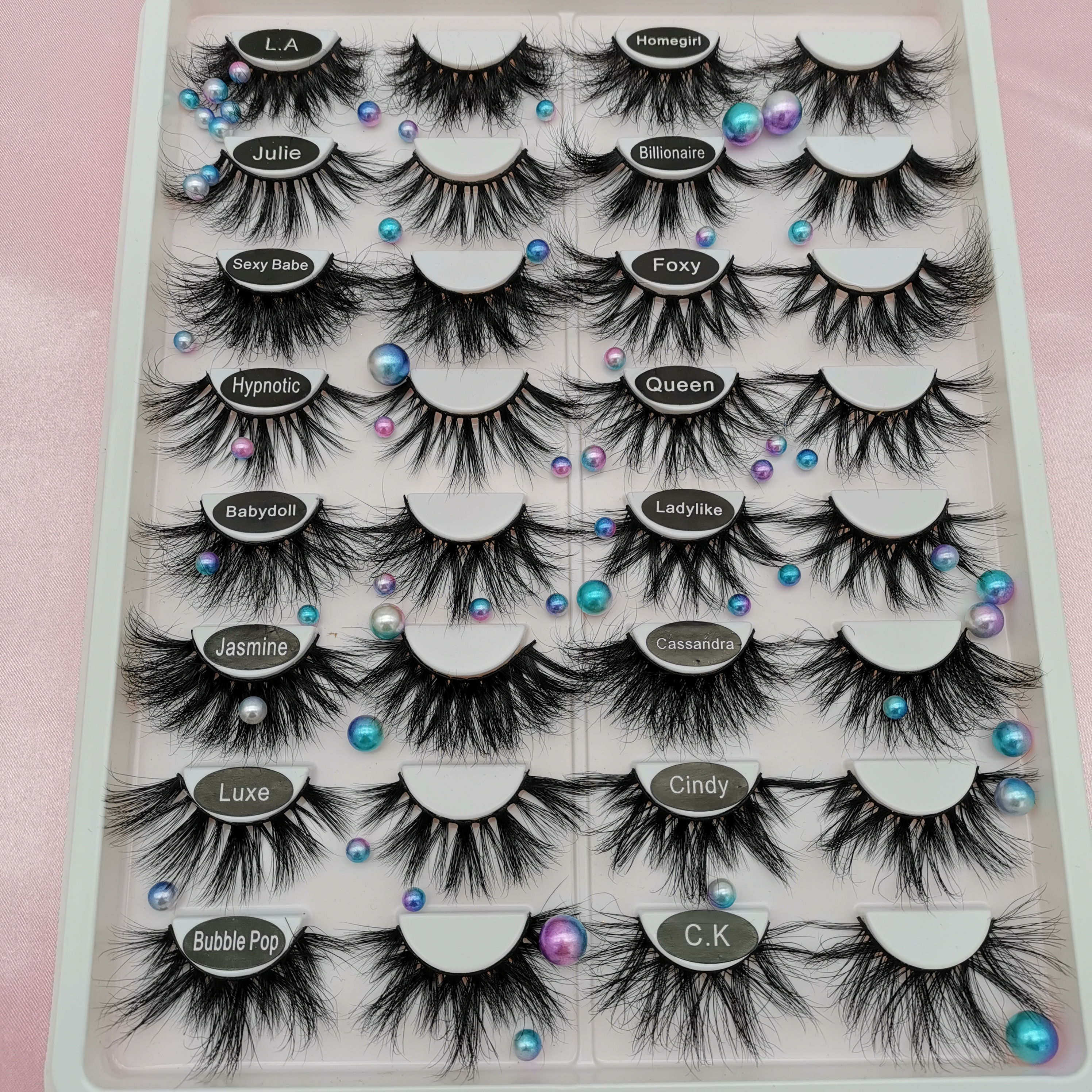 1Pair 25MM Dramatic Long Lashes 3D Mink Hair False Eyelashes Thick Criss-cross Wispies Fluffies Eye Lash Extension Makeup Tools