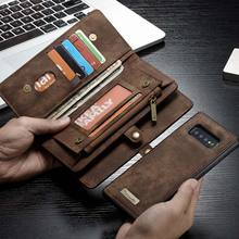Caseme deri telefon Samsung kılıfı not 10 artı 9 8 S10 5G S9 koruyucu cüzdan çanta Samsung A80 A90 A70 a40 lüks kapak
