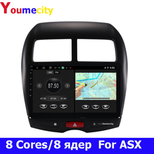 2G RAM/Eight Core/Android 9.0 Car Multimedia Player DVD Gps For Mitsubishi ASX Peugeot 4008 Citroen C4 With IPS Radio Bluetooth