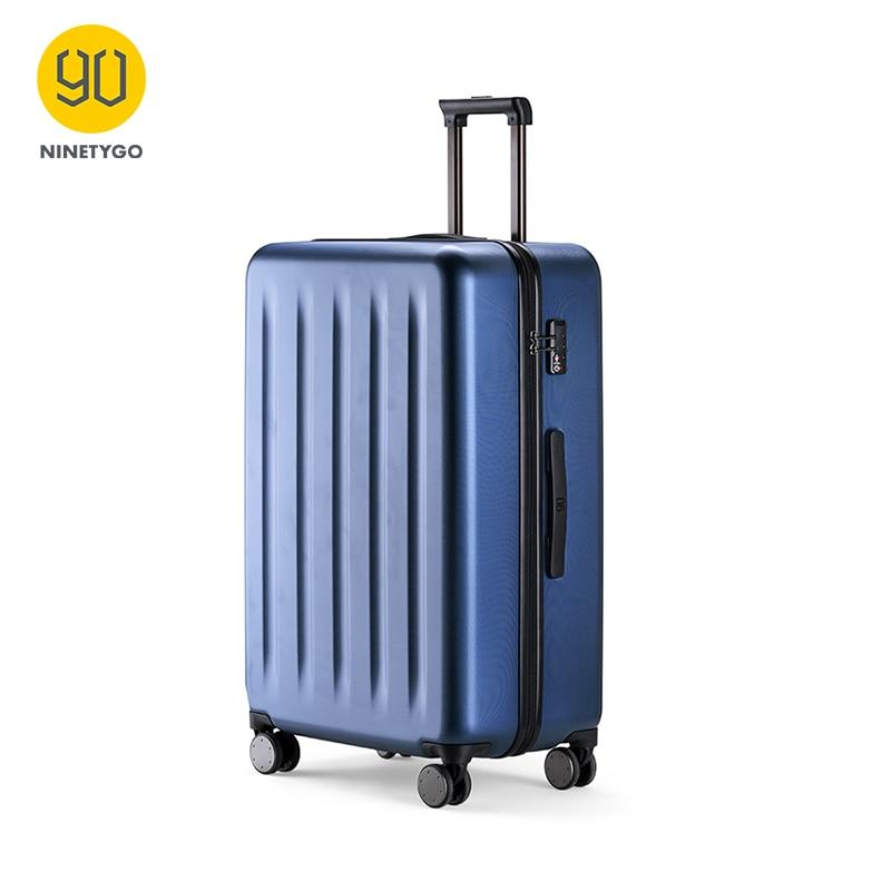 NINETYG 90FUN PC Suitcase Colorful Rolling Luggage Lightweight Carry On Spinner Wheel Travel TSA Lock Women Men 20 24 28inch