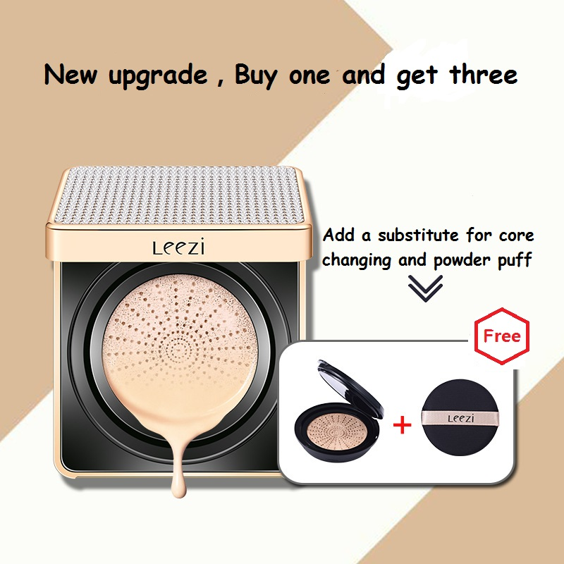 Leezi Diamond sparkling air cushion BB moisturizing concealer acne printing invisible pores oily skin makeup nude makeup image