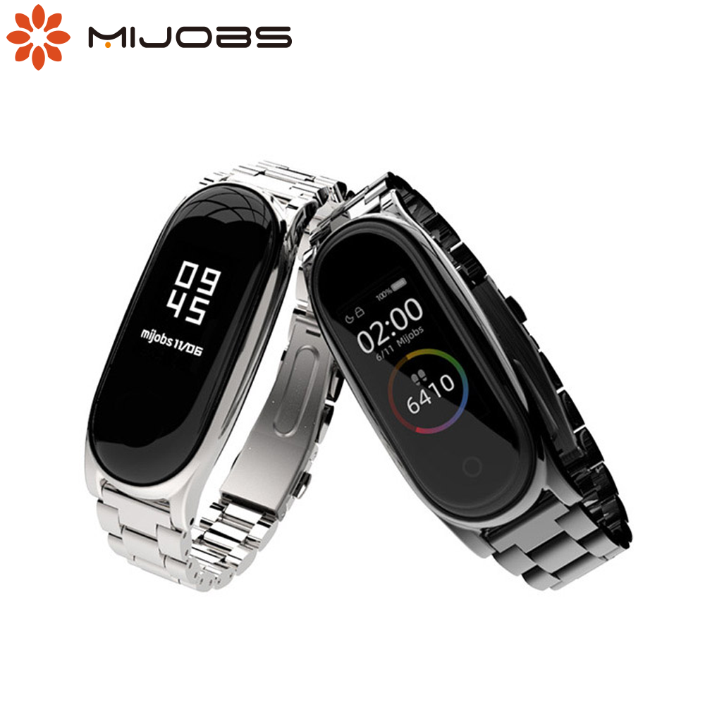 Mi Band 5 Strap Metal Bracelet For Xiaomi Mi Band 4 Strap Nfc Global Correa Smart Watch Bracelet Stainless Steel Mi Band 3 Strap Smart Accessories Aliexpress