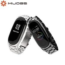 Mi Band 5 Strap Metall Armband für Xiaomi Mi Band 4 Strap NFC Globale Correa Smart Uhr Armband Edelstahl mi Band 3 Strap
