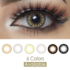 Glass Ball Colored Contacts Myopia Power Prescription Colored Contact Lenses(China)