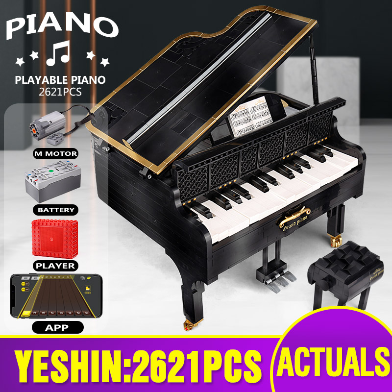 Yeshin MOC- 13192 Creative Ideas Toys The App Control Legoing Playable Grand Piano Set Kids Toys Building Blocks Christmas Gifts