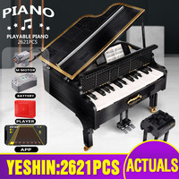 Yeshin MOC 13192 Creative Ideas Toys The App Control Legoing Playable Grand Piano Set Kids Toys Building Blocks Christmas Gifts