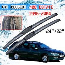 עבור פיג ו 406 ן 1996 1997 1998 1999 2000 2001 2002 2003 2004 אביזרי רכב קדמי שמשות מגב להבי מברשות U J