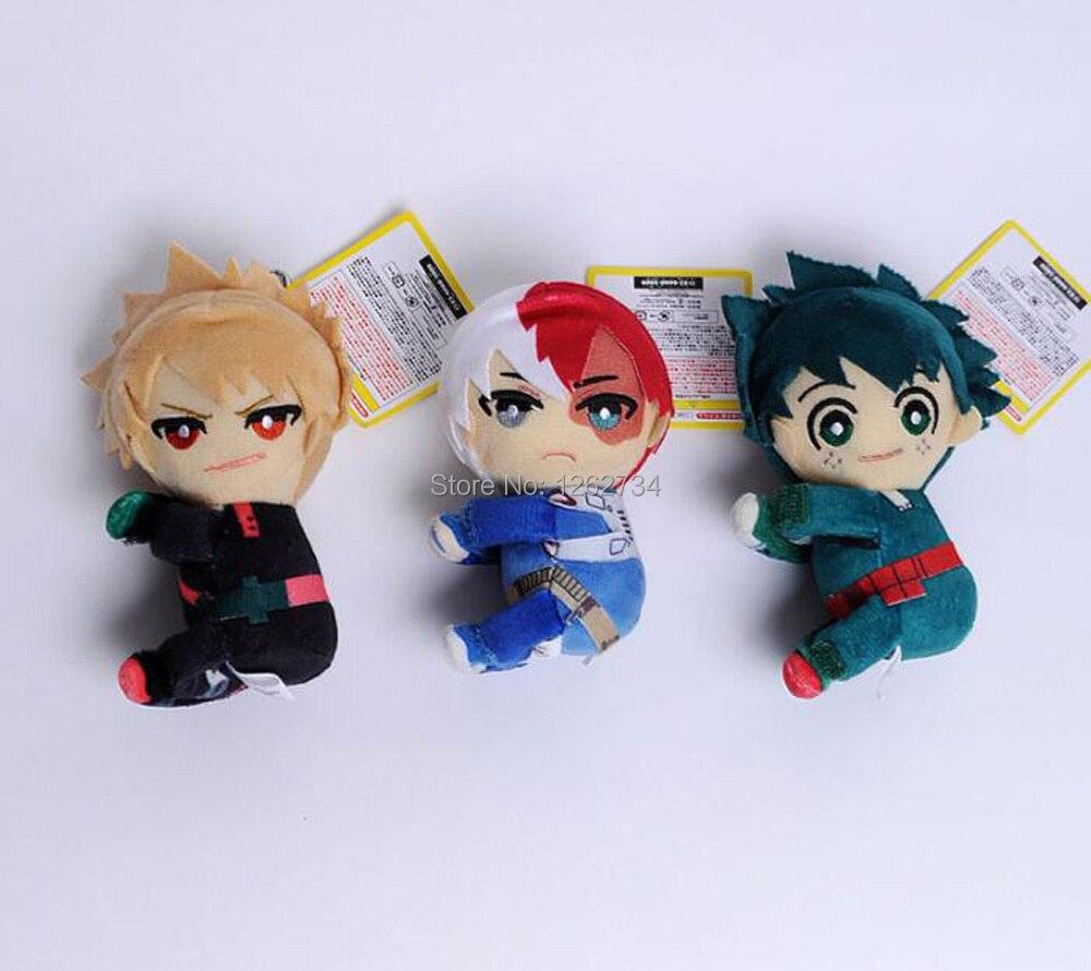EMS 100/лот My Hero Academy Bakugou Katsuki Todoroki Shoto Midoriya izku 13 см липучка лента плюшевая фигурка игрушка