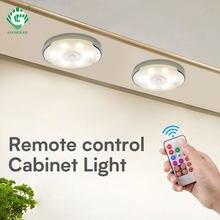 Dimmbare RGB Batterie LED Puck Lichter Fernbedienung Touch Unter Schrank Licht Küche Schrank Schrank Schlafzimmer Timer Smart Lampe