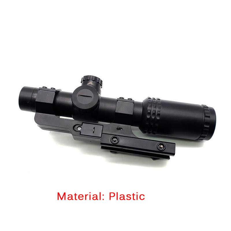 Mira telescópica de alta calidad 8x, mira telescópica verde y roja, óptica táctica de caza, mira holográfica, accesorios de pistola de plástico