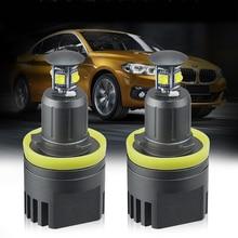 2x 40W Fog Lights Headlight H8 Canbus Error Free 120W LED Angel Eye for BMW Marker Lights Bulbs For BMW E60 E61 E90 E92 pair e92 h8 10w bulb 20w w cree chips angel eye marker led headlight no error for 07 12 bmw e92 328i 335i coupe m3 e93 e89 z4