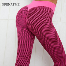 OPENATME Hips Solid Color Mesh Nylon Seamless Leggings Sports Ladies Fitness Breathable Bodybuilding Running Yoga Pants