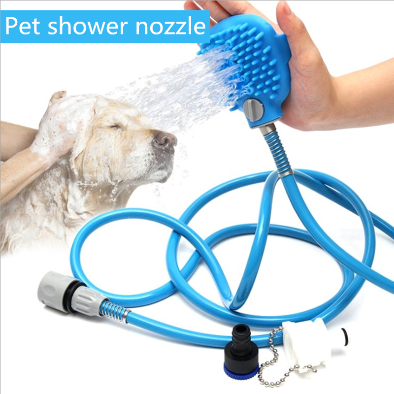 Pet Bathing Tools Cat And Dog Bathing Massage Nozzle Cleaning Supplies Dog Brush Nozzle Pet Supplies Dog Accessories