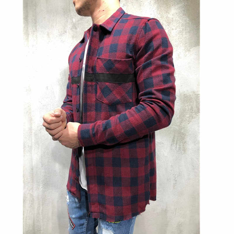 패션 남성 셔츠 camisa blusa masculina 캐주얼 슬림 긴팔 셔츠 남성 인과 남성 블라우스 탑 streetwear camisa masculina