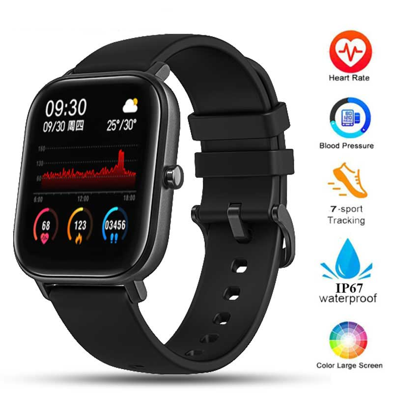 P8 Smart Watch Men Women IP67 Waterproof Fitness Tracker Sport Heart Rate Monitor Full Touch Smartwatch For Amazfit Android IOS