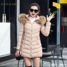 Kate Kasin Winter Coat Women Silk-wadding Zipper D