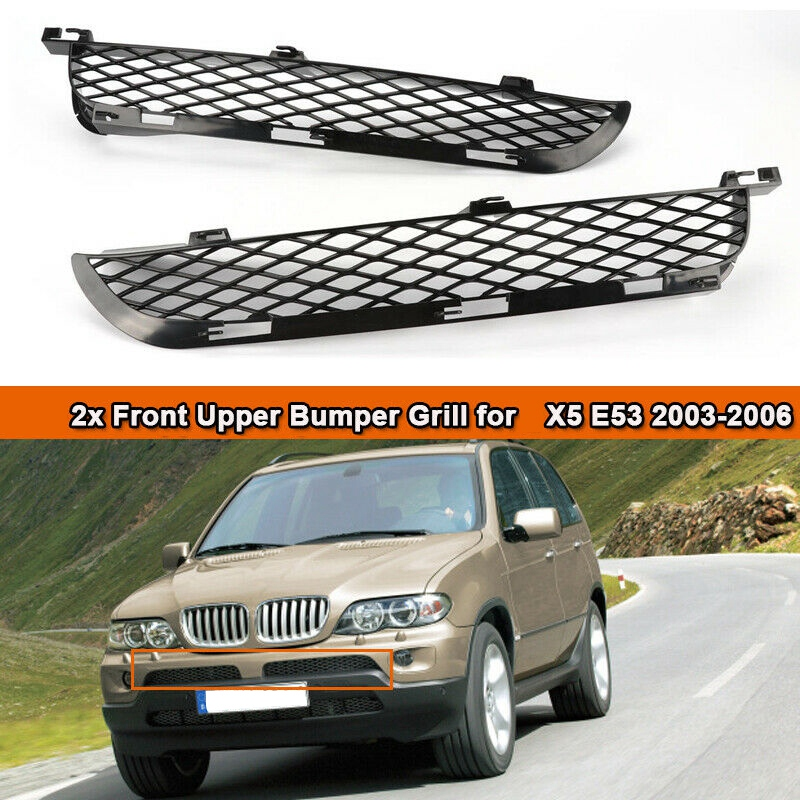 For-BMW X5 E53 2003-2006 Facelift Front Grille Upper Bumper Mesh Grill