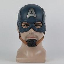 Cosplay capitão máscara américa guerra civil máscara capacete de halloween máscara de látex cosplay traje