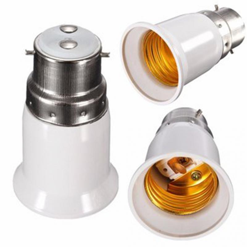 1pc Led Lamp Bulb Base Conversion Holder Converter B22 To E27 Socket Adapter Converter Light Adapter Lamp Holder Lighting Parts
