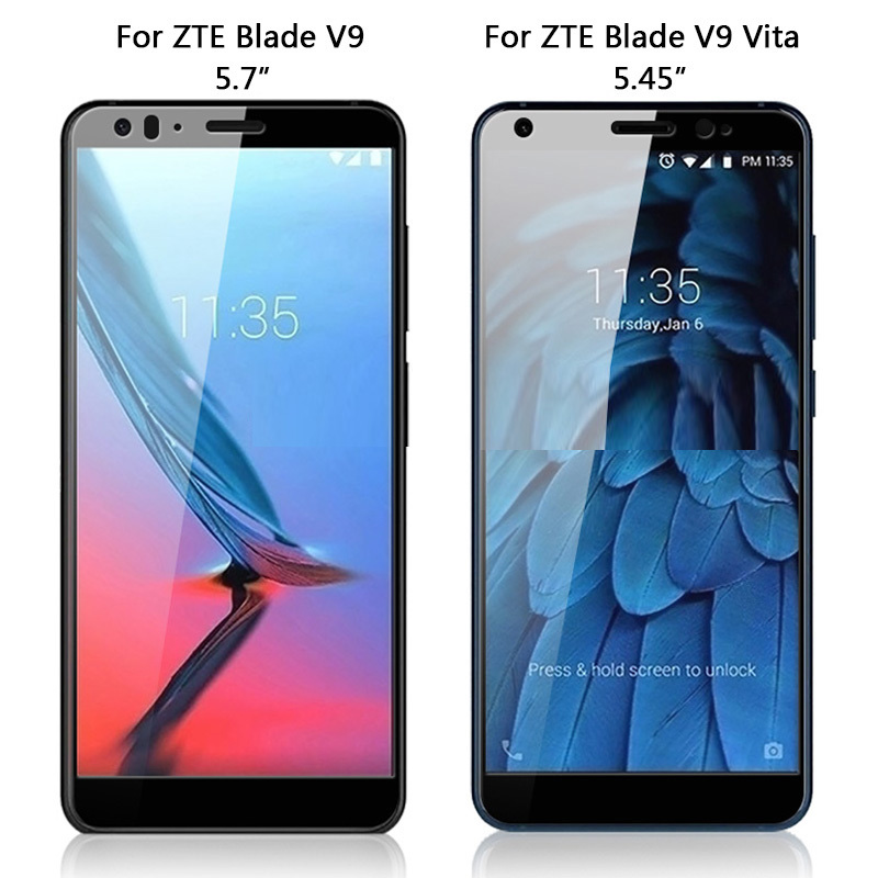 3D Tempered Glass Case For ZTE Blade V9 Full Screen Cover Screen Protector Film