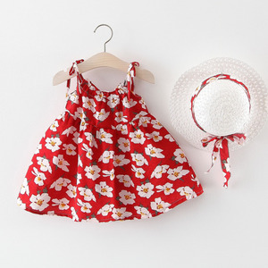 Girl Kids Party  Flash Sale KidsGirlDress Infant Dresses Girl Outfits Baby Dresses Party Hoilday Dress+cap Baby Girl Clothes