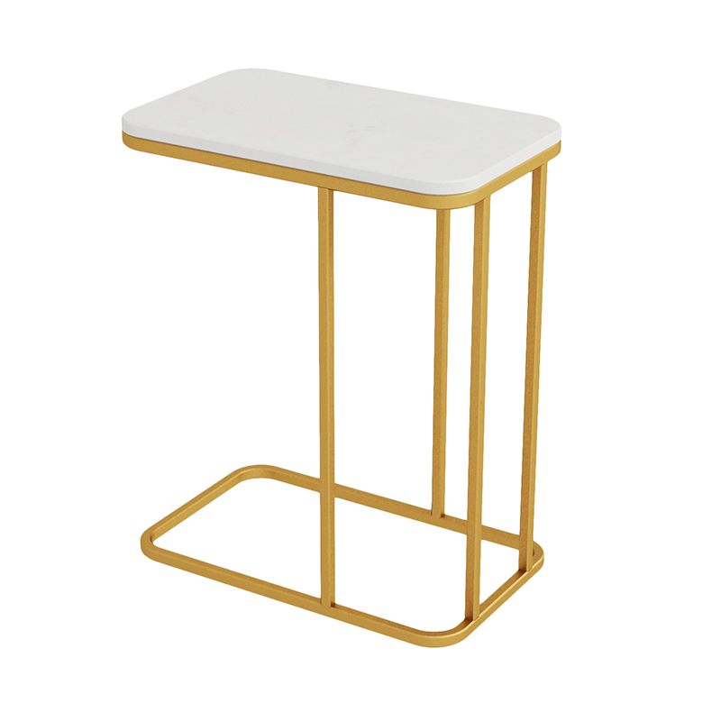 Europe du nord lumière extravagante Table d'appoint fer Art canapé coin quelques petite Table basse armoire d'appoint marbre lit carré