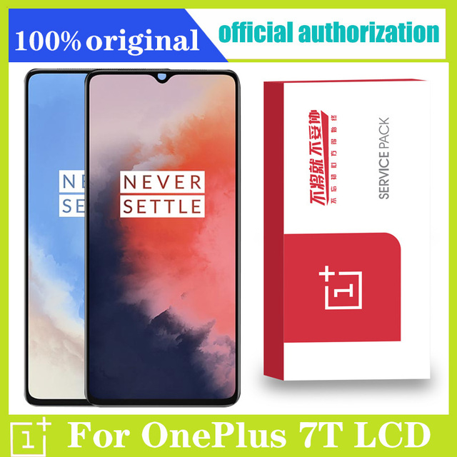 """Original 6.55"""" Display Replacement For OnePlus 7T AMOLED LCD Touch Screen Digitizer Assembly for 1+ 7T Display Screen"""
