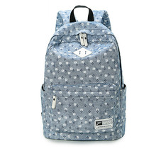 Fresh Cute Book Bags Floral High Quality Canvas Printing Backpack Women School Backpacks for Teenage Girl