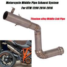 Мотоцикл титановый сплав средняя труба выхлопная система silp
