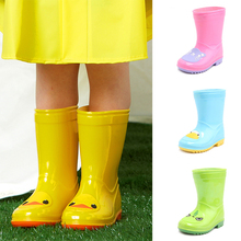 Kids shoes Rain boots Kids shoes for girl Baby shoes Boys shoes Waterproof Outdoor shoes Mid-calf boots Toddler rain boots cheap DRIPDROP Platform Unisex Children Rainboots Flat with Cotton Fabric Round Toe Slip-On Fits smaller than usual Please check this store s sizing info
