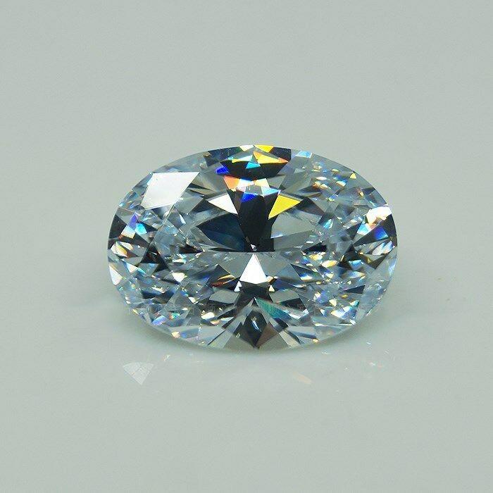 30 CT Huge White Sapphire AAA Zircon 15 * 20MM Oval Cut Loose Gemstones Gems Wholesale