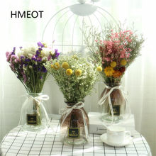 Gorący 40cm bukiet z suszonych kwiatów Art DIY instrukcja suszone rośliny układ kolokacja fotografia rekwizyty Gypsophila Home Decoration