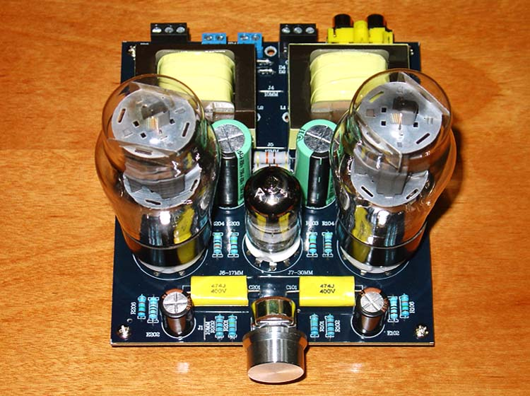 Hi-Fi Stereo 6N1/6N2+6P3P Single ended Class A Audio Tube Amplifier Board valve Amp board DIY KIT image
