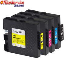 Cartuchos de tinta compatíveis gc31 para ricoh GX-e7700 GX-e5500 GX-e3300 GX-e2600 impressora a jato tinta, tinta completa