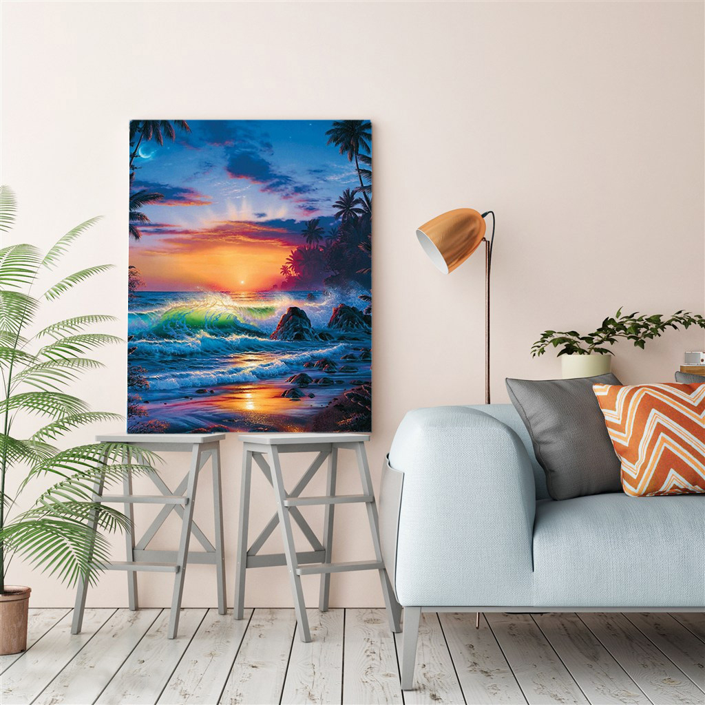 EverShine DIY Painting By Numbers Seascape Hand Painted Drawing Canvas Wall Art Landscape Home Decoration-3