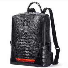 gete New crocodile leather backpack for men personality fashion Thai leisure bag