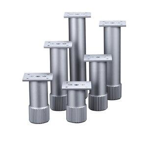 Image 5 - 4Pcs Hoogte Verstelbare Metalen Meubelen Benen Aluminium Coffe Tafel Benen Zilver Voor Sofa Tv Kast Voet Meubels Hardware