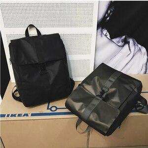 Image 5 - حقيبة ظهر نسائية رائعة من قماش أكسفورد للجنسين حقيبة ظهر ذات جودة عالية حقيبة بسيطة مقاومة للمياه حقيبة يومية متينة باللون الأسود والذهبي